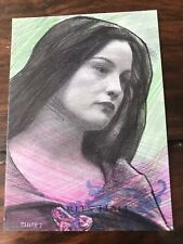 Charles Hall Original Sketch Card Arwen Liv Tyler Lord of the Rings PSC ACEO