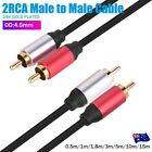Premium 2 RCA to 2 RCA Stereo Audio Cable Cord Male-Male Gold Plated 0.5m ~ 10m