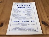 RARE 1969-70 Cheshunt FC Football Club Official Matchday Programme - G13