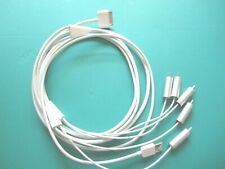 APPLE GENUINE COMPONENT AV CABLE FOR IPHONE 480i, 576i & IPOD NANO 3rd, 4th Gen