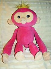 "2018 WowWee Pink Bella Monkey Fingerlings Interactive Huggs Plush Animal 15"""