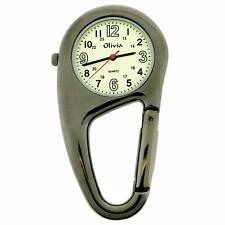 TOC Clip On Carabiner Metal Fob Watch Luminous Paramedic Doctor Nurse Men Women