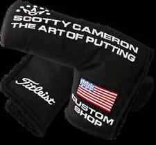 SCOTTY CAMERON CUSTOM SHOP HEADCOVER - US FLAG BLACK NYLON (BLADE)