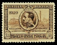 SPAIN 1929 ☆ 10P KEY STAMP EXPO SEVILLE BARCELONA ☆ MLH ☆ MAGNIFICENT ☆
