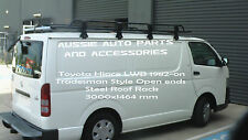 Tradesman Style Open Ends Steel Roof Rack 3000mm for TOYOTA HIACE 1982-2018