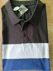 5XL PLUS mens PIQUE POLO TOP  BLUE  cotton  NEW LAST ONE