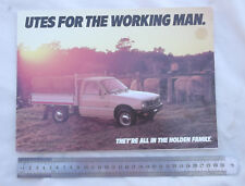 1985 Holden Rodeo Utility Sales Brochure Ute