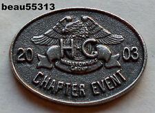 2003 HARLEY DAVIDSON OWNERS GROUP HOG CHAPTER EVENT JACKET VEST HAT PIN