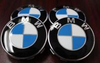 4X Logo BMW Cache moyeu centre roue 68mm jante badge