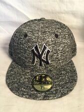 New old stock 59Fifty New York YANKEES MLB grey gray white  NEW ERA hat 7 1/2