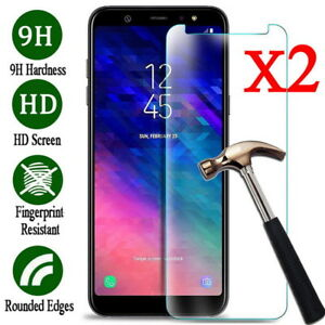 Clear Tempered Glass Screen Cover For Samsung Galaxy A9 A6 A7 2018 A31 A71 A51