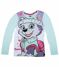 Girls Kids Official Licensed Disney Various Character Long Sleeve T Shirt Top Paw Patrol (girl Pup) 3 - 4 Years