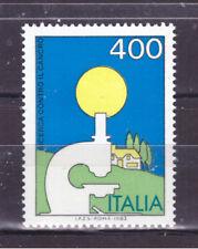FRANCOBOLLI Italia Repubblica 1984 Lotta Contro il Cancro 400 Lire MNH**