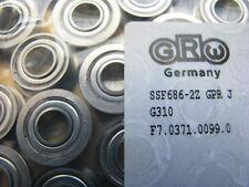 Kugellager 6x13(15)x5mm GRWSS 686 ZZ  neu 4Stück