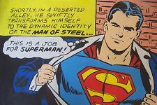 Superman 30x20 oil painting Framing avail.man of steel Zod Krypton vintage retro