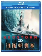 Geostorm (Blu-ray 3D + Blu-ray + Digital) Gerard Butler, Jim Sturgess - New!