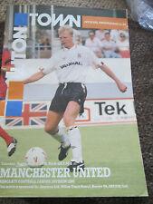 Manchester United Vs Luton Town 1990 Programme /bi
