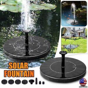 Bird bath Solar Powered Floating Pump Water Outdoor Fountain Ponds Garden Decor