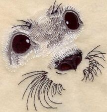 Large Embroidered Zippered Tote - Baby Harp Seal Eyes M1278