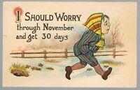 Vintage November Postcard No. 93