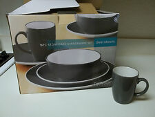 Thomson Pottery Dinner Set ~ 16 Pieces ~ Duo Granite ~ New In Box