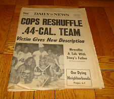 August 3 1977 DAILY NEWS Newspaper .44 Killer SON OF SAM Cops Reshuffle Paper
