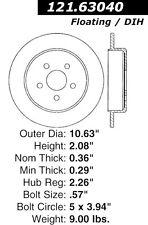 121.63040 - Centric Disc Brake Rotors,  Free Shipping!!!!