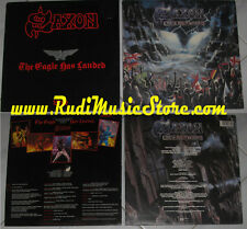 LOTTO 2 LP SAXON rock the nations live eagle landed CD