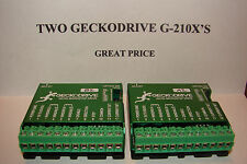 TWO CNC Geckodrive G-210x's+Extras Stepper motor Driver Gecko Router Mill Plasma