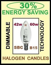 5 X NEW 30% ENERGY SAVING 42W = 60W DIMMABLE CANDLE HALOGEN LIGHT BULBS SBC B15