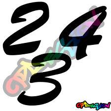 Numeri Adesivi auto/moto racing stickers numero adesivo