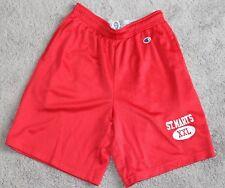ST MARYS vtg 90s MESH SHORTS Men's Medium M Red Gym Saint Mary's CHAMPION Gaels
