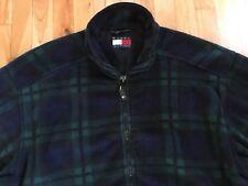 Tommy Hilfiger Vintage PLAID Men's XL Full Zip Fleece Jacket - Spell Out Logo