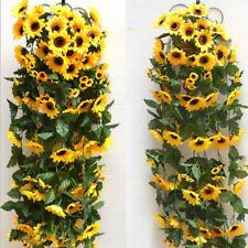 2.5 M Artificial Silk Sunflower Garland Vines Home Wedding Garden Hanging Decor