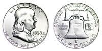 1959-D Franklin Half Dollar Brilliant Uncirculated- BU