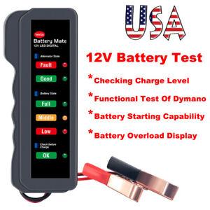 12V Battery Load Tester car autocycle marine Alternator analyzer Diagnostic tool