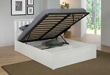 Modern Zoe Storage Gas Lift Wooden Bed Frame - Double/Kingsize - White/Oak