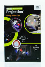 Gemmy LED LightShow Projection Up to 20 ft Whirl A Motion Red White Blue Turning
