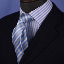 Light Blue Regimental Striped Tie 8cm Men's Air Force Stylish Designer Acessory