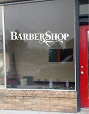 Barber Shop Business Vinyl Decal Sticker Window Lettering 11x40