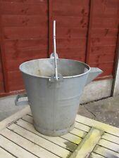 Vintage Original Zinc Galvanised Bucket Planter 52cm Watertight Dairy? SHED FIND