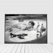 New Poster Canvas Art Print Vintage Photography Painting Black White Bathroom