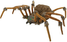 Halloween Huge Brown Wolf Spider Led Lighted Eyes Prop Haunted House 53 Inches