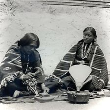 Keystone Magic Lantern Glass Slide Navajo Indian Silversmith At Work Blankets
