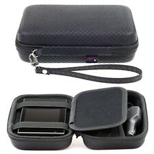 Black Hard Carry Case For Garmin Nuvi 1410 1440 1490T GPS With Accessory Storage