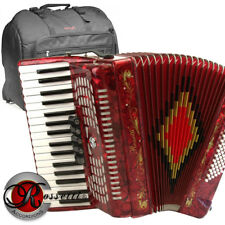 ROSSETTI PIANO ACCORDION 72 BASS 34 KEYS 5 SWITCHES RED R3472-RD + GIG BAG