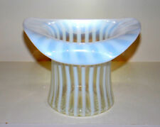 ANTIQUE VINTAGE 1939 FENTON FRENCH OPALESCENT RIB OPTIC TOP HAT VASE*