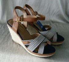 9f7e62dfc9a Tom Tailor 485200830 Stripey Heeled Espadrille Sandals - size 5  RRP £60