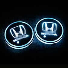 2x LED USB Honda Cup Holder Lights Car Auto Interior Decoration Lamp Accessories