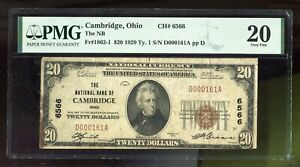 1929 $20 National Bank of Cambridge, Ohio Fr. 1802-1 Type 1 PMG 20 Stains #161